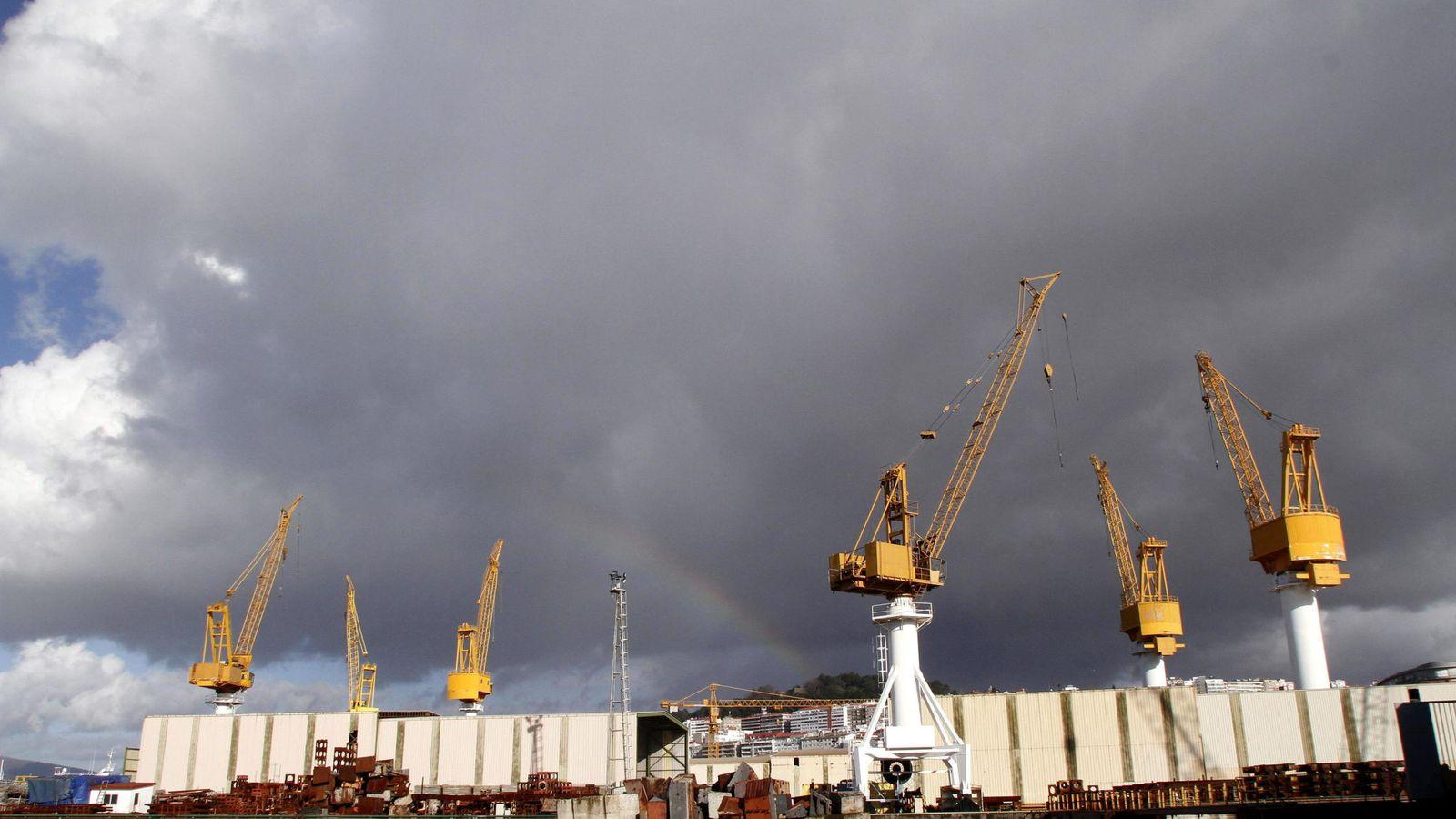Foto: Vista general del astillero Barreras en Vigo. (EFE)