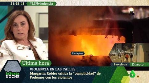 Angélica Rubio machaca a Pablo Iglesias por no condenar la violencia