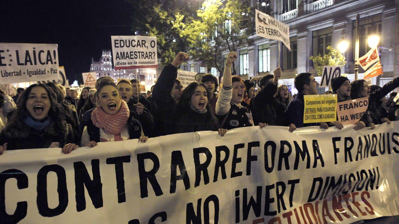 Manifestación celebrada contra la Lomce en noviembre de 2013. (EFE)