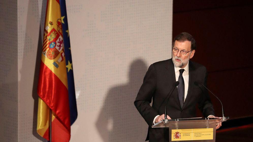 Foto: El presidente del Gobierno, Mariano Rajoy, durante su intervención. (EFE)