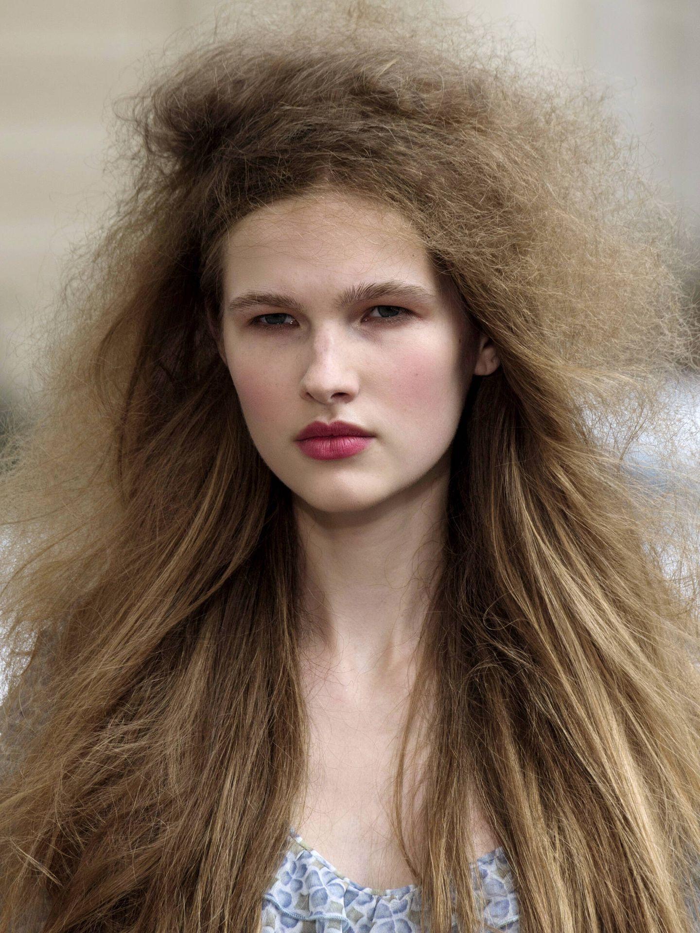 El efecto frizz aparece cuando un cabello seco crece en busca de humedad. (Imaxtree)