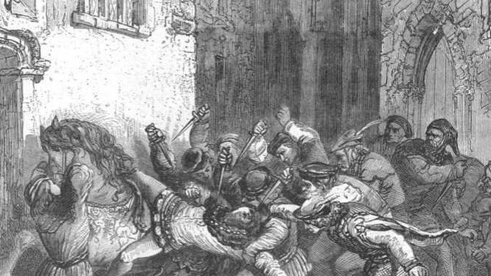 Foto: Grabado sobre el asesinato de Louis de Orléans realizado por Paul Lehugeur en el siglo XIX.