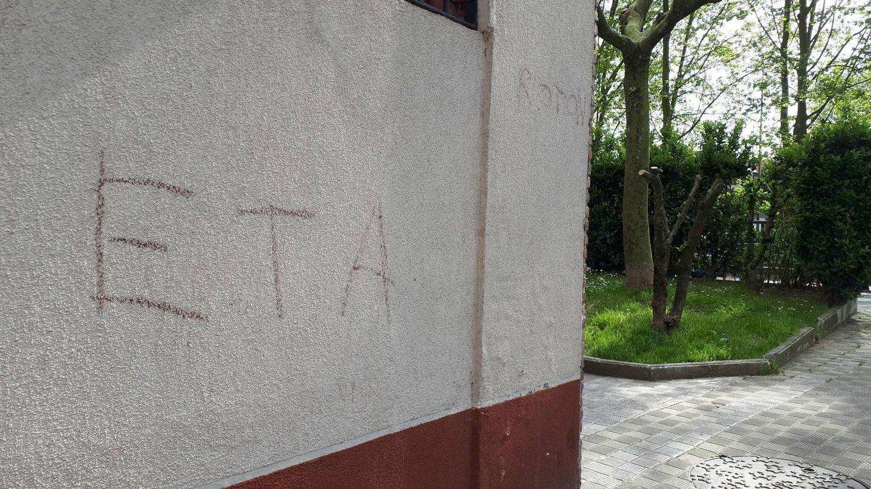 Pintada a favor de ETA en Lezo.