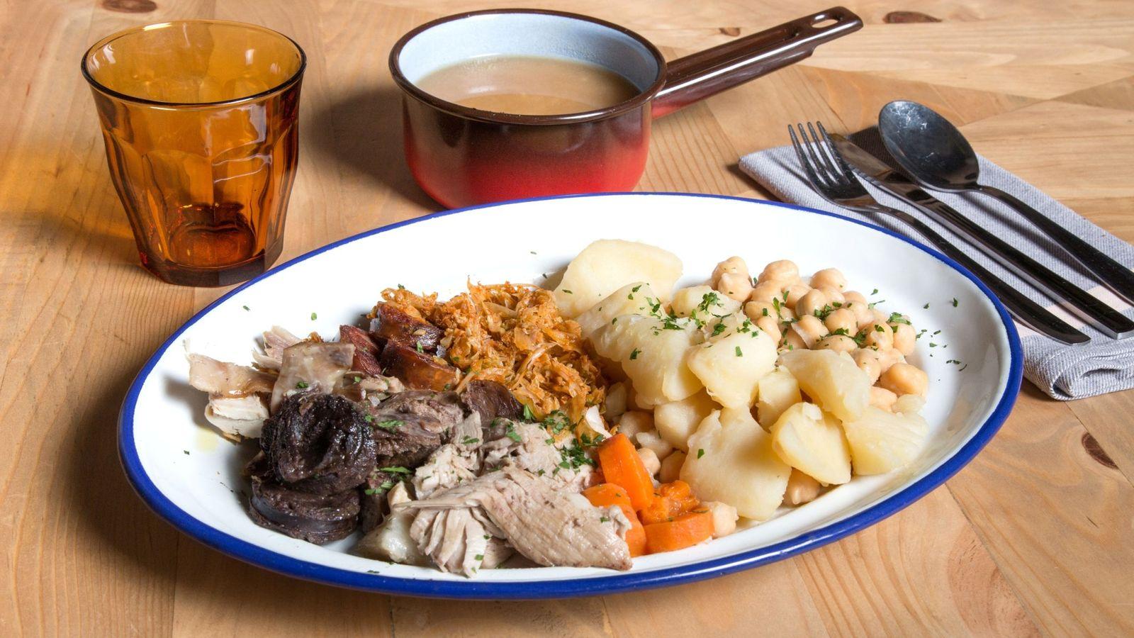 Foto: Un buen cocido madrileño, servido cuqui.