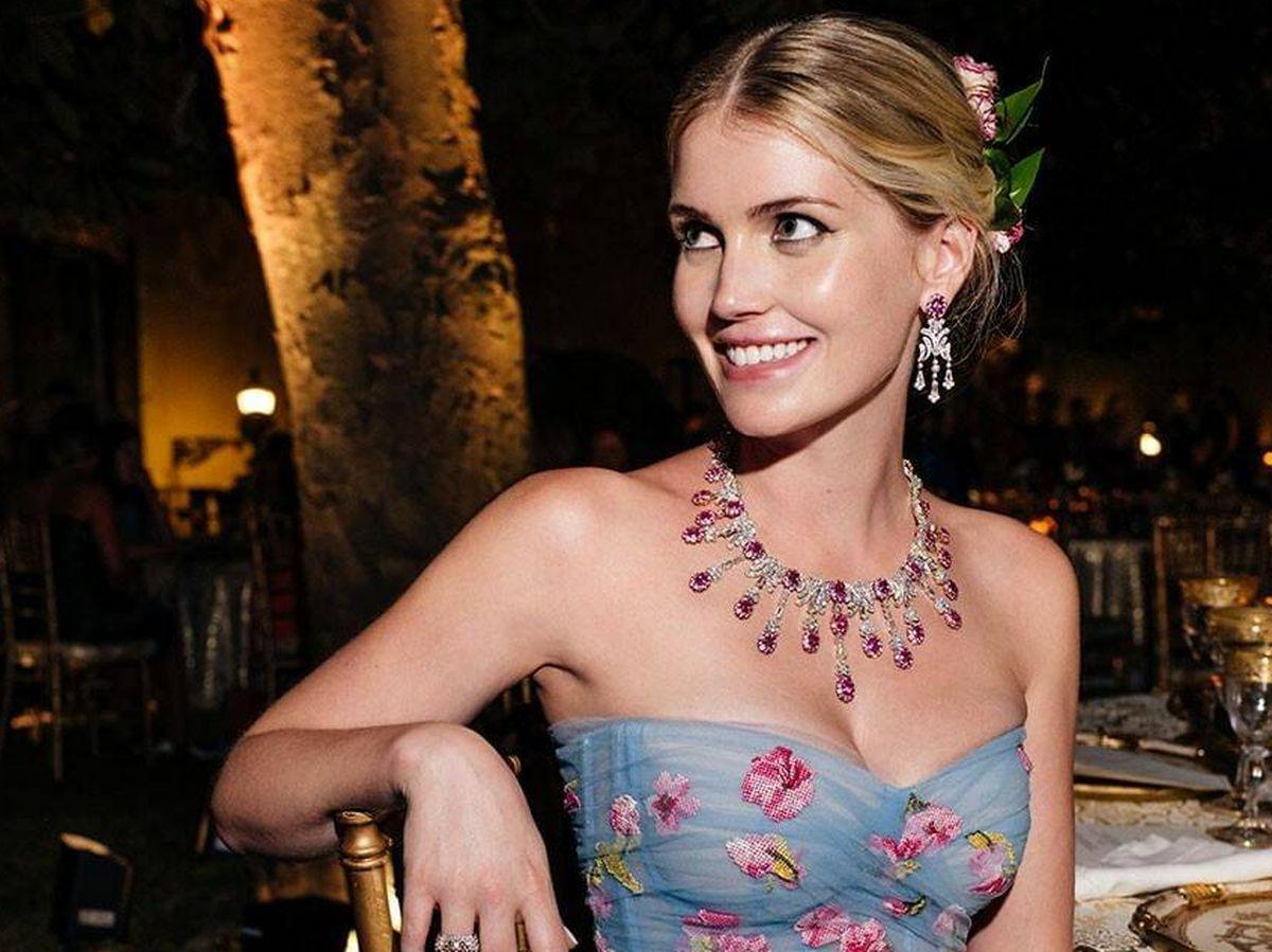 Foto: Lady Kitty Spencer, con el segundo vestido de su boda. (Cortesía Dolce & Gabbana)