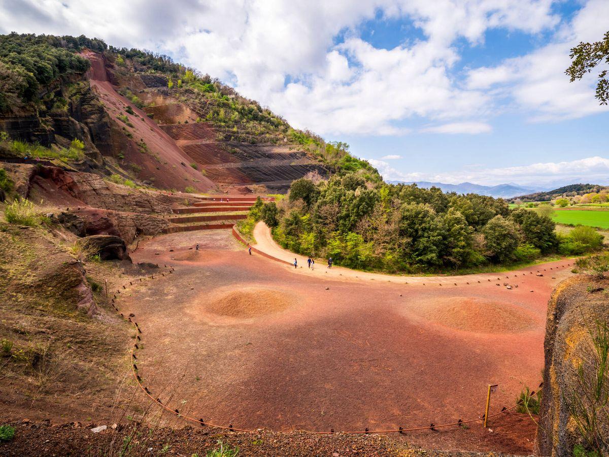 Foto: Volcán Croscat en la región de La Garrotxa