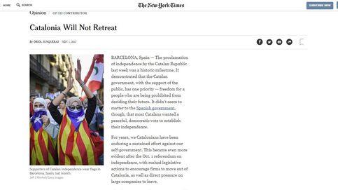 España protesta contra el 'NYT' por dar voz a Junqueras en un artículo de opinión