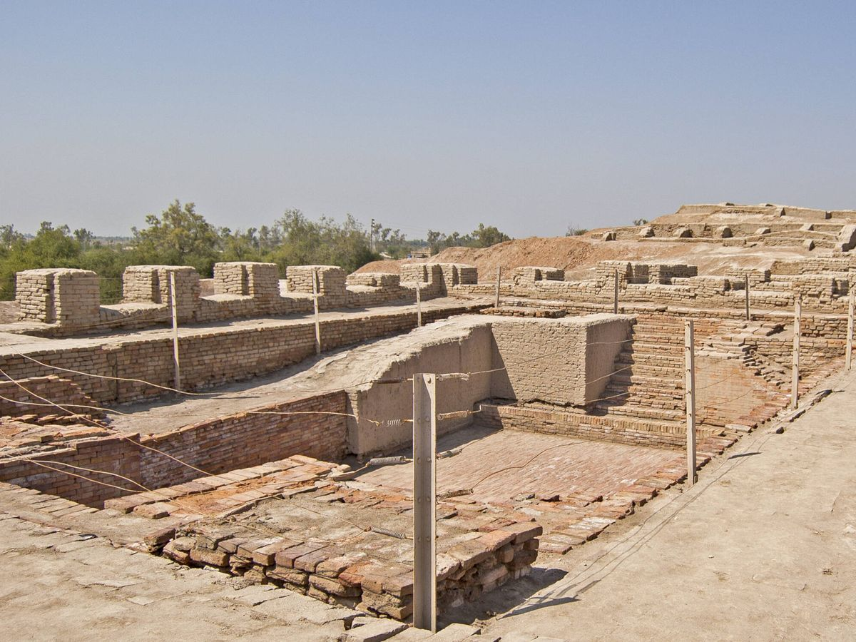 Foto: Grandes baños de Mohenjo-Daro en Pakistán.