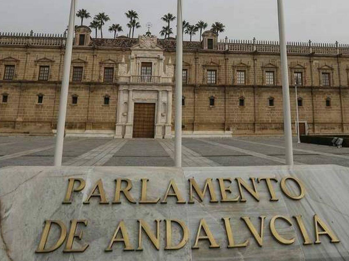 Foto: Vista de la fachada del Parlamento de Andalucía. (EFE)