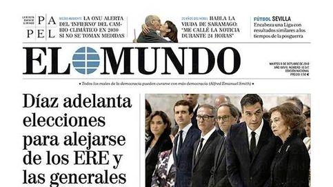 Primera prueba del PSOE de Sánchez: así cubre la prensa el adelanto electoral en Andalucía