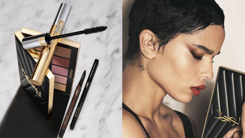 Zoe Kravitz, con maquillaje de Yves Saint Laurent. (Cortesía)