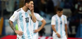 Post de Una charla de Messi con su esposa evitó que, hundido, dimitiera de Argentina