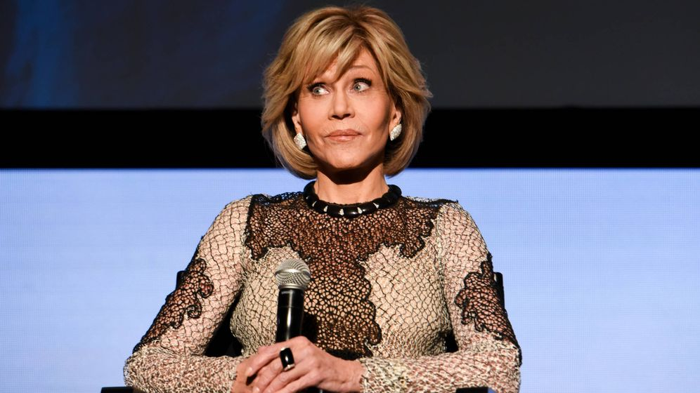 Foto: Jane Fonda promociona su serie Grace And Frankie (Getty)