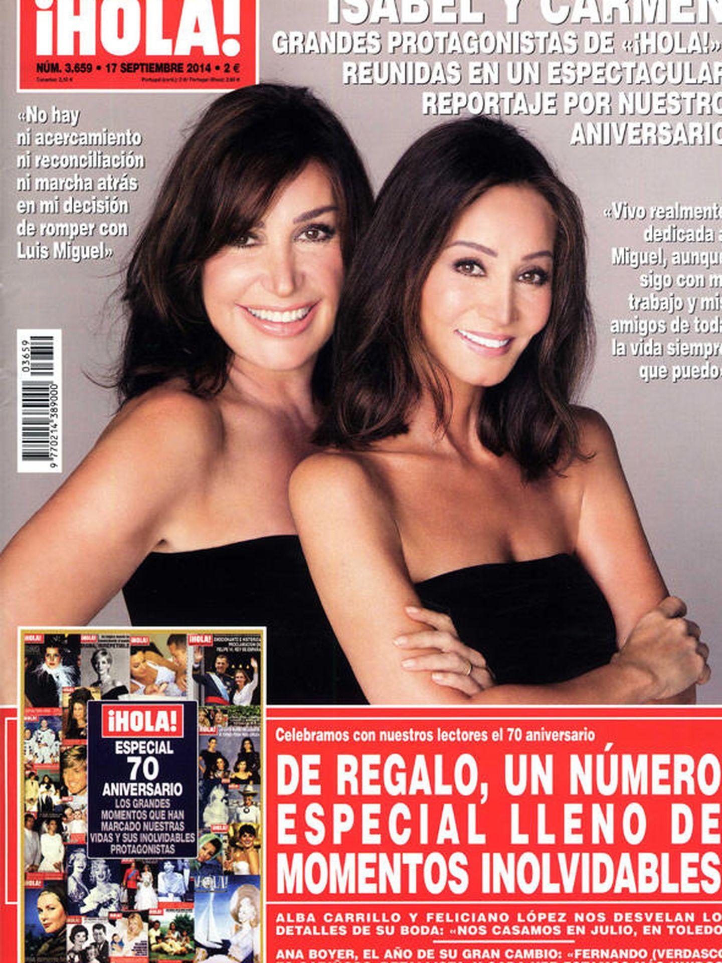 Carmen Martínez-Bordiú e Isabel Preysler,  en '¡Hola!'.