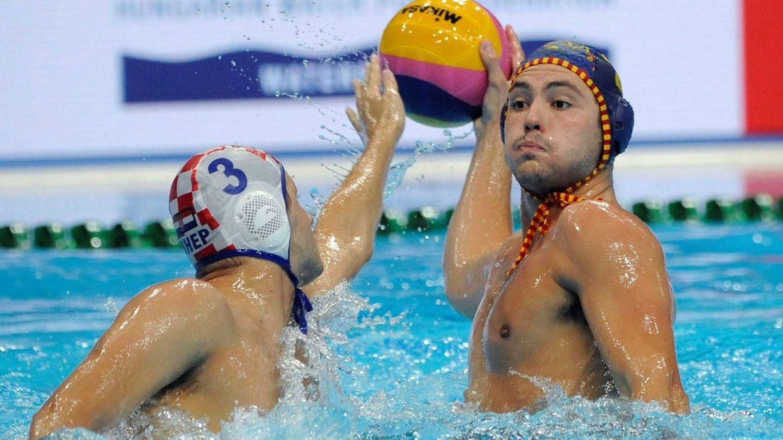 Imagen del Croacia-España. (EFE)