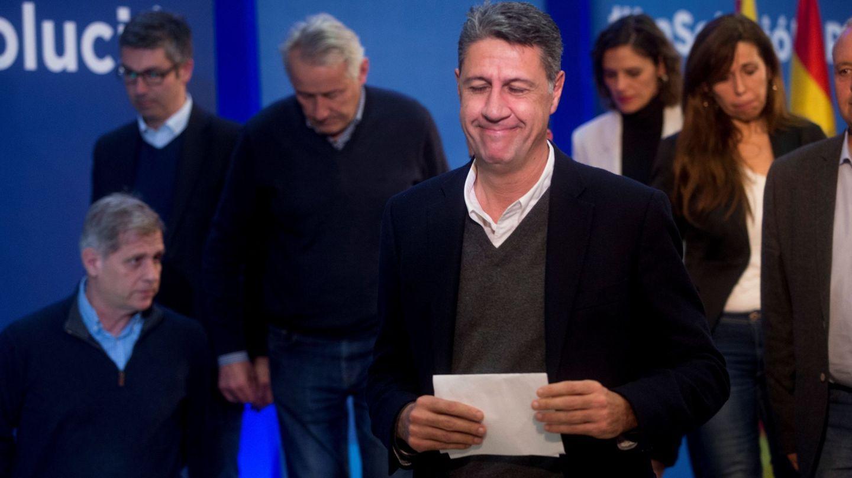 El cabeza de lista del PPC en las elecciones del 21-D, Xavier García Albiol, tras valorar los resultados. (EFE)
