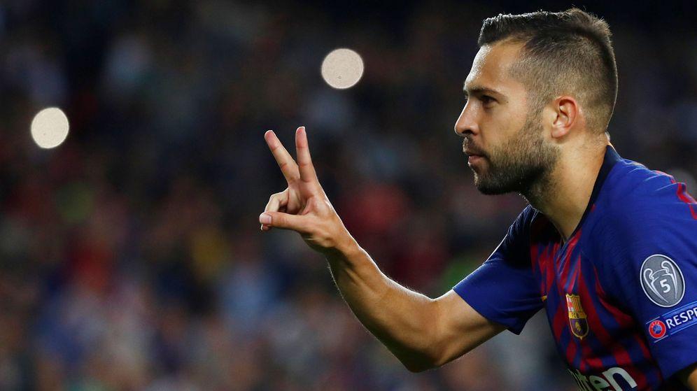 Foto: Jordi Alba celebra un gol. (Reuters)