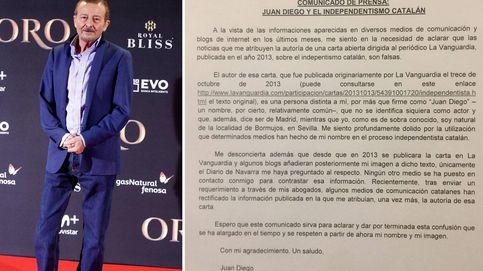 La carta independentista que Juan Diego ha tardado cinco años en desmentir