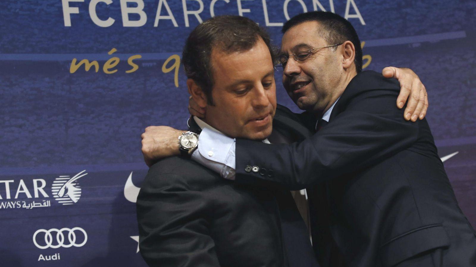 Foto: Sandro Rosell junto a Josep María Bartomeu.
