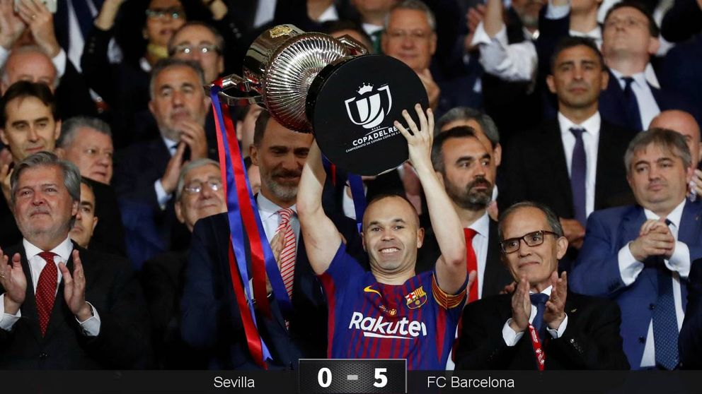 El Barça que no apareció en Roma humilla al Sevilla para ser campeón de Copa