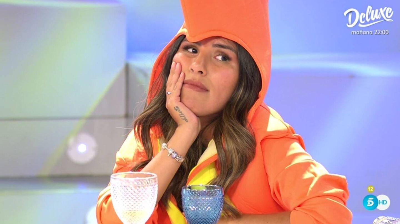 Isa Pantoja, emocionada al hablar de su madre. (Telecinco).