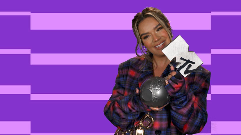 Karol G, en MTV EMAs 2020. (MTV)