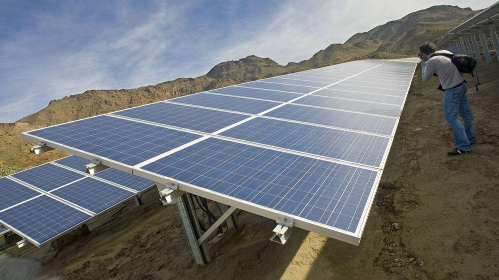 Foto: Una planta fotovoltaica en Almería. Efe