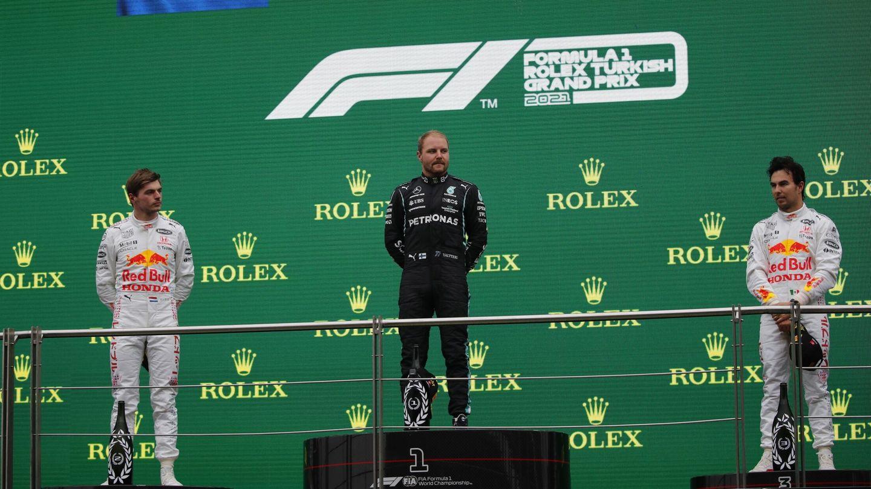 Bottas, tras ganar el Gran Premio de Turquía. (EFE)