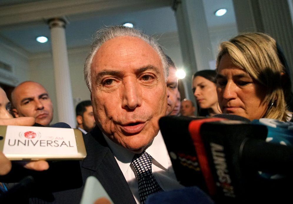 Foto: Michel Temer hace declaraciones a la prensa tras una cumbre de Mercosur, en Montevideo. (Reuters)