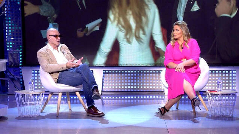 Kiko Matamoros y Carlota Corredera, en 'Sálvame'. (Telecinco)