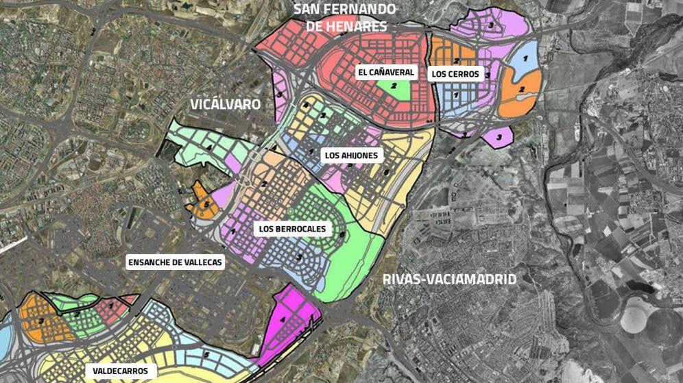Foto: Mapa de los principales sectores de los desarrollos del sureste.