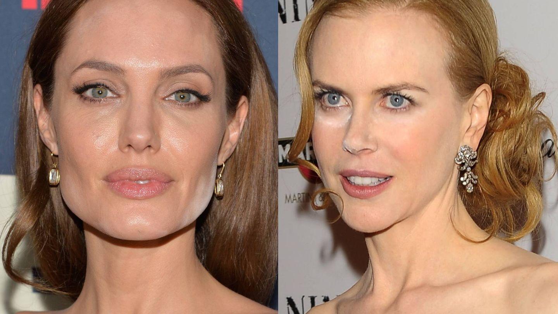 Angelina Jolie y Nicole Kidman. (Getty)