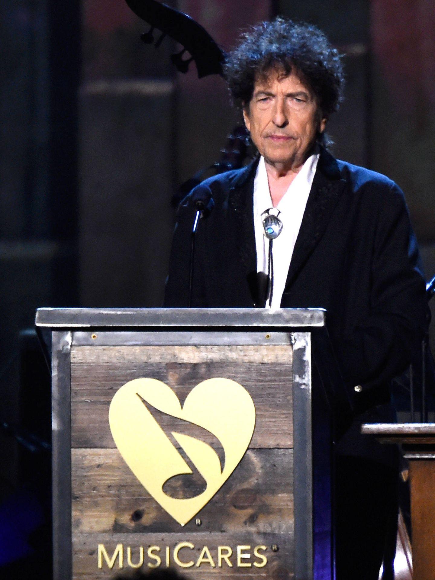 Bob Dylan en un acto. (Getty)