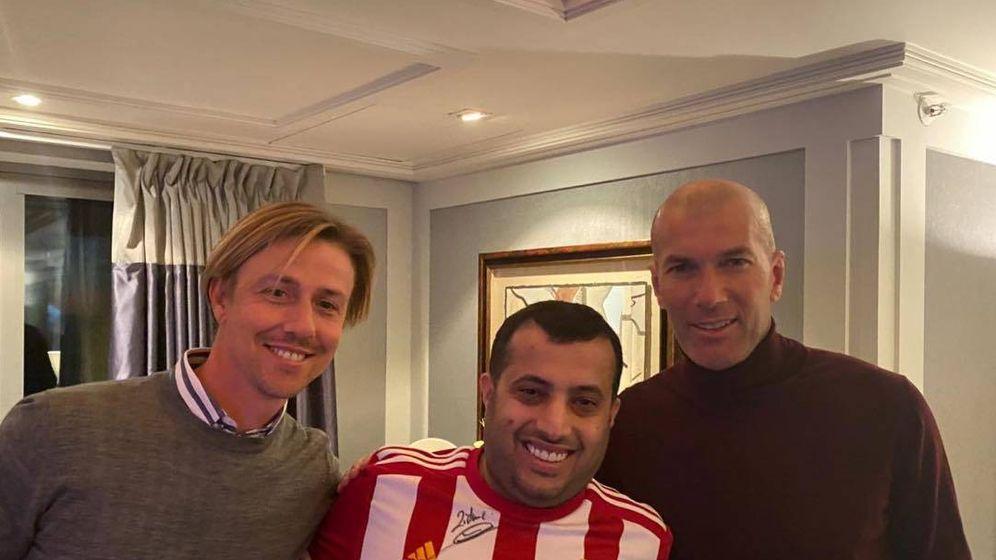 Foto: Guti (i), Turki Al-Sheikh (c) y Zidane. (Foto: Instagram.com/turkialalshik)