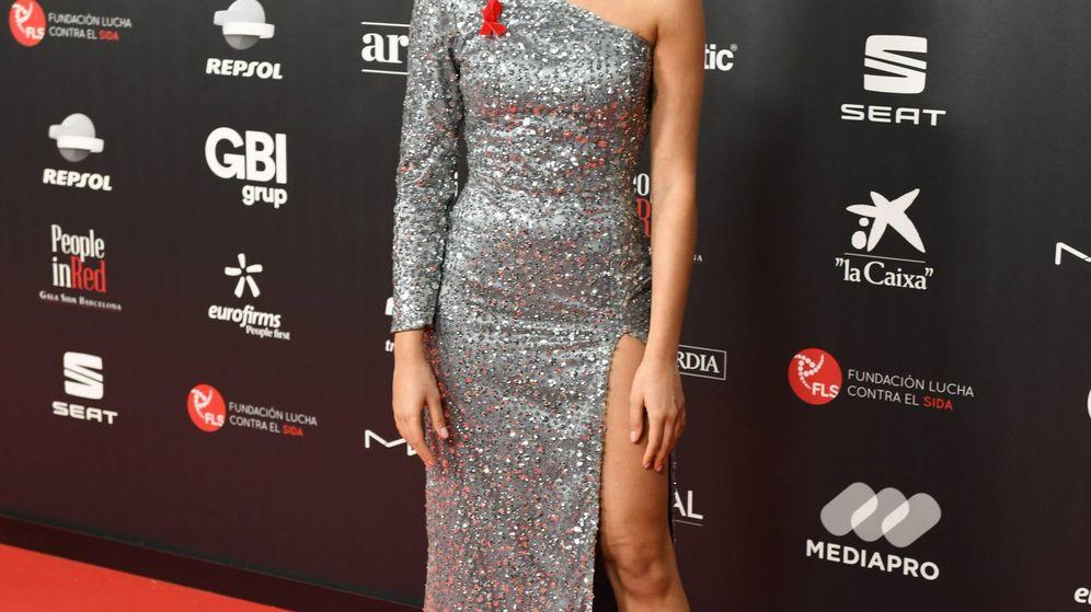 Foto: Aitana, en el photocall de la gala People in Red. (Cordon Press)