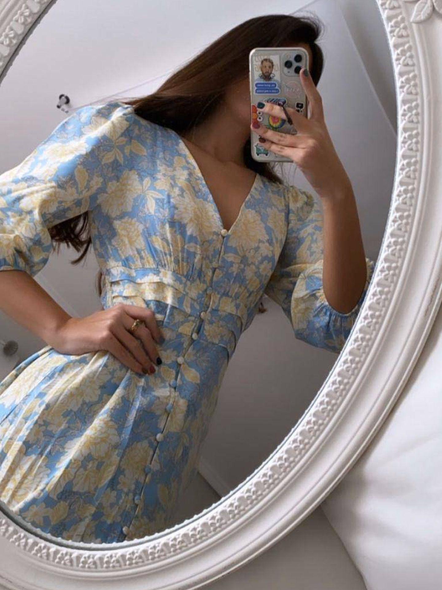 Marta Lozano con el vestido de Zara. (Instagram, @martalozanop)