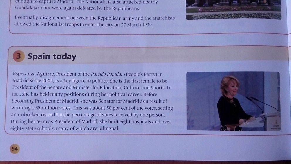 ¿Aguirre modernizó Madrid? Los filtros que pasan los libros de texto