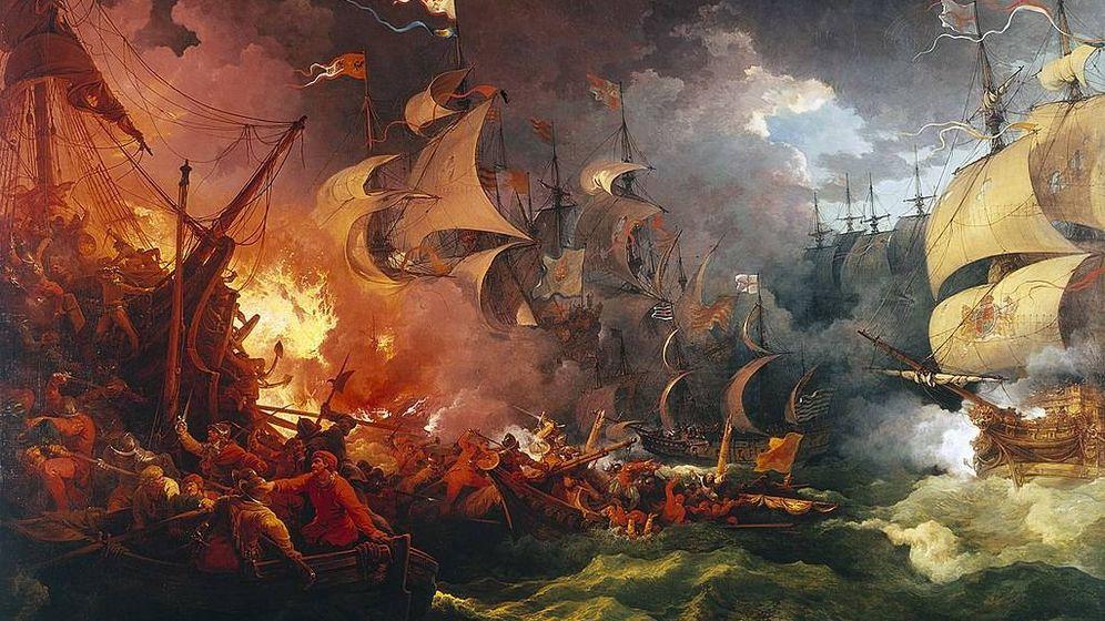 Foto:  'Derrota de la Armada Invencible', Philippe-Jacques de Loutherbourg (1796).