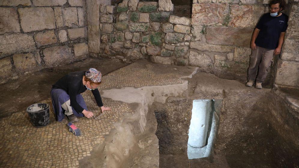 Foto: El complejo subterráneo tenía tres habitaciones. Foto: EFE EPA ABIR SULTAN