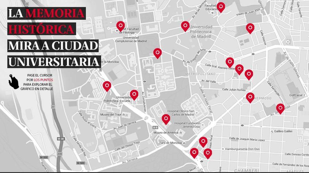 'Objetivo Ciudad Universitaria': 15 calles  bajo la lupa de la memoria histórica