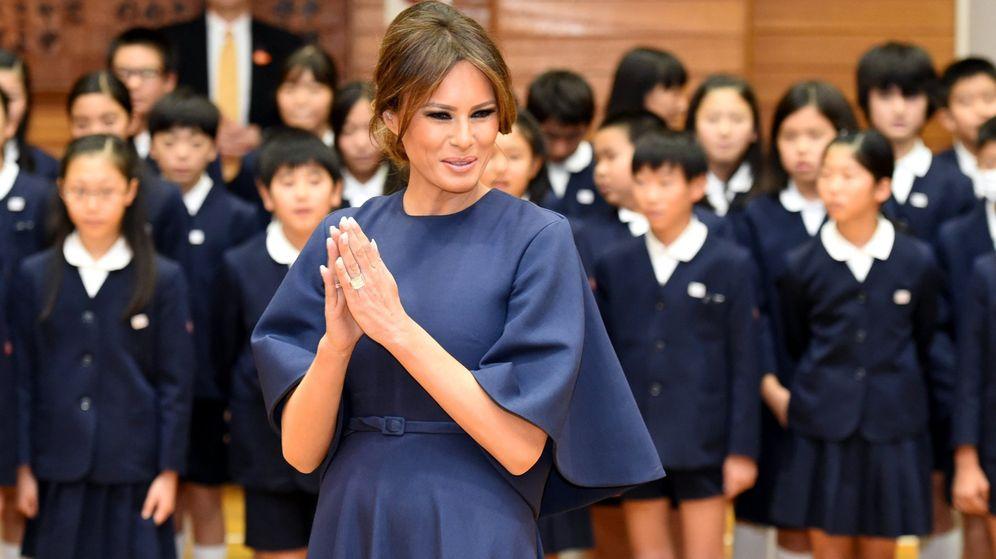 Foto: Melania Trump, en Tokio con el vestido de Dior repetido. (EFE)