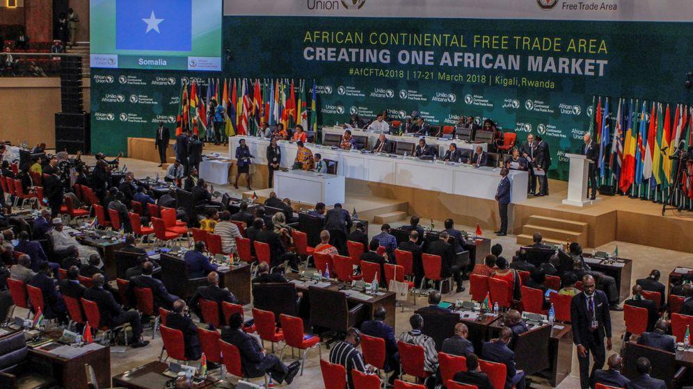 Foto: Líderes africanos, este miércoles, en la firma del Pacto de Libre Comercio. (Reuters)
