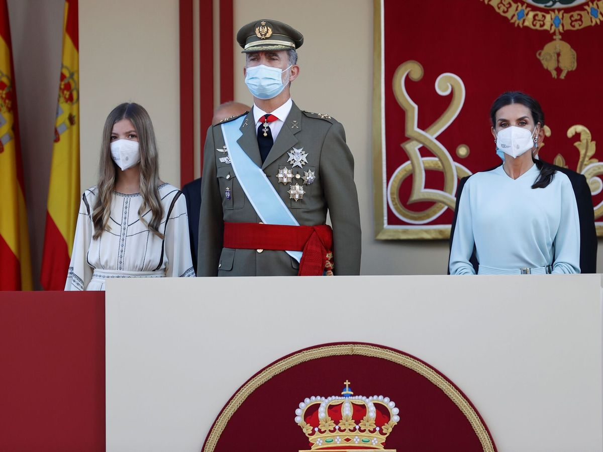 Foto: Felipe VI, junto a la reina Letizia y la infanta Sofía. (EFE)