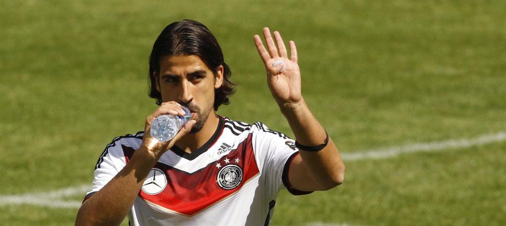 Foto: Sami Khedira, durante un entrenamiento con Alemania (Reuters)