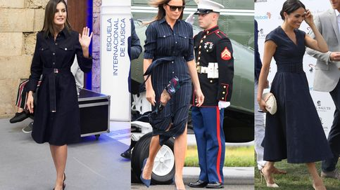 Letizia Ortiz, Meghan Markle y Melania Trump, locas por los vestidos denim