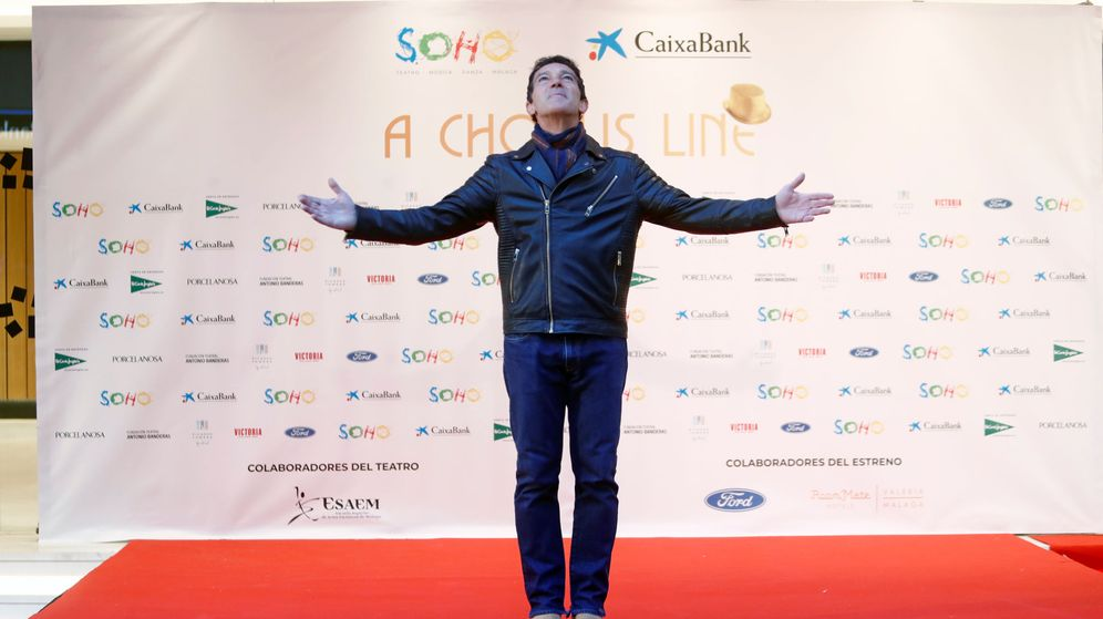 Foto: Antonio Banderas antes del estreno del musical A chorus line. (Reuters)