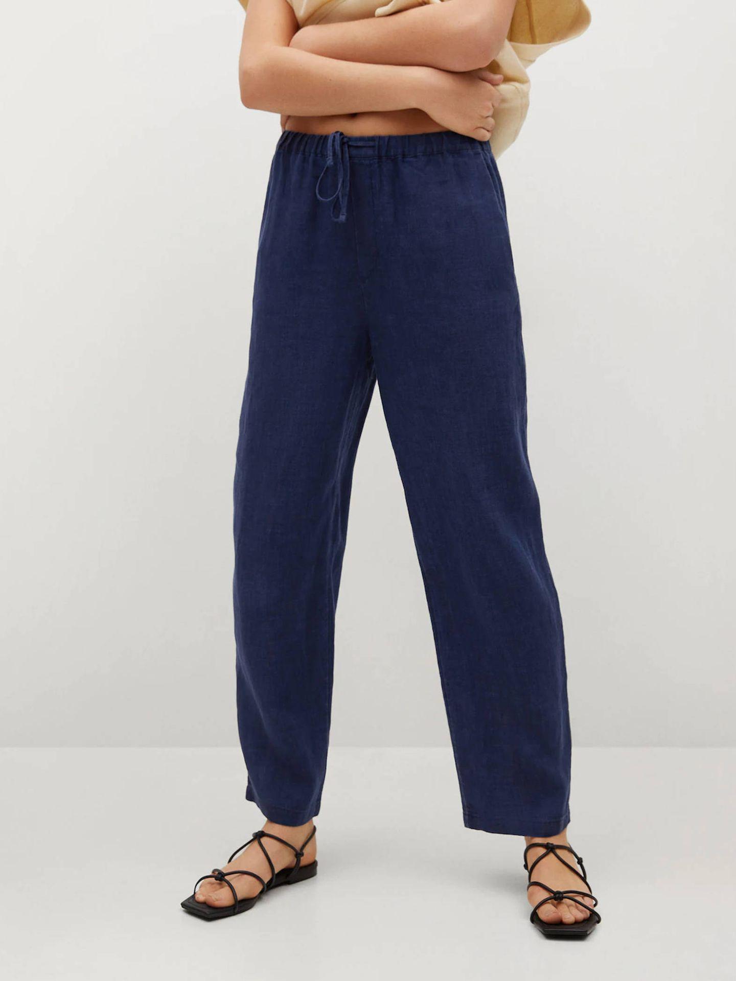 Pantalones de lino de Mango. (Cortesía)