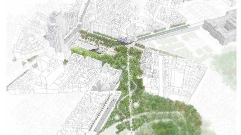 Los cinco proyectos finalistas para la remodelación de Plaza España