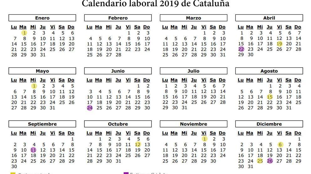 Calendario laboral 2019 de Cataluña: los 12 festivos y puentes de la comunidad