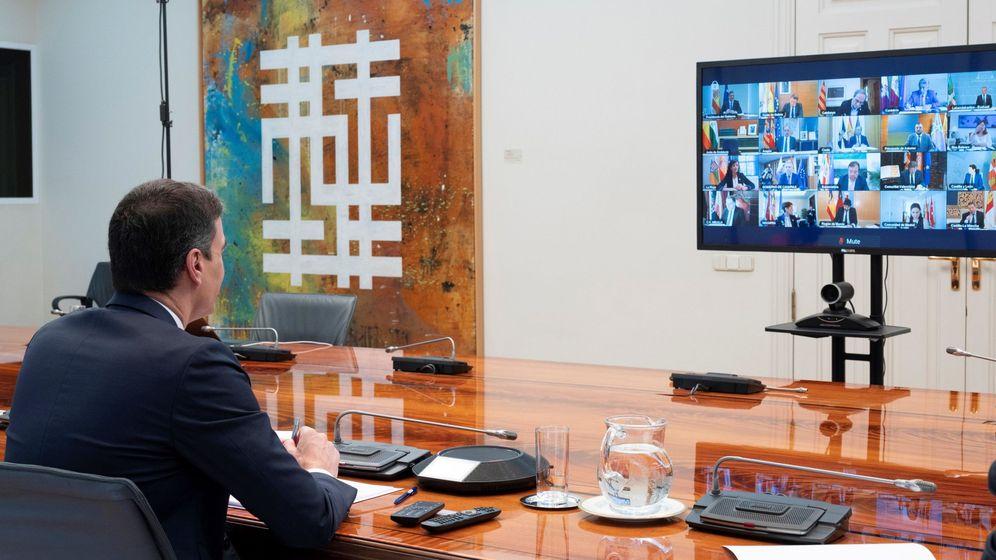 Foto: Pedro Sánchez, en la conferencia de presidentes. (EFE)